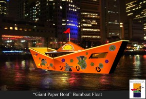 """Giant Paper Boat"" Bumboat Float"
