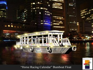 """Horse Racing Calendar"" Bumboat Float"